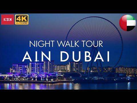 [4K] Night   Walk Tour Ain Dubai (World's Tallest Ferris Wheel)   N3K