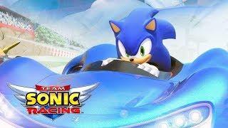 TEAM SONIC RACING - O Início de Gameplay | Jogo de Kart / Carro / Corrida do Sonic