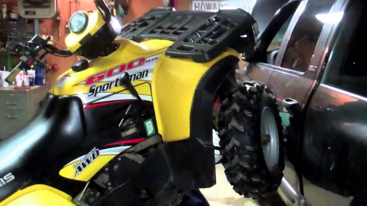 Polaris Sportsman 600 Plow Mount Assembly  YouTube