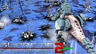 Supreme Commander 2 - Four Way Duel! 4 Player FFA Multiplayer Gameplay