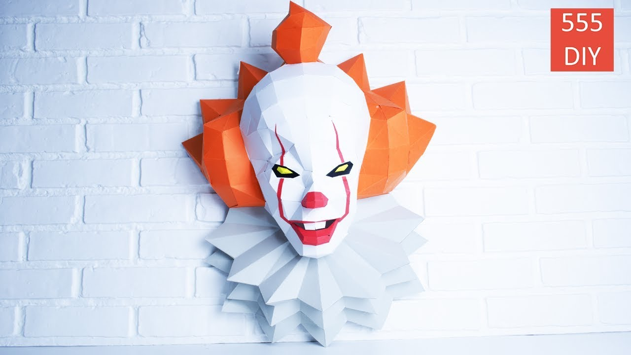 Diy It 2017 Pennywise Paper Craft Wall Decoration Ideas
