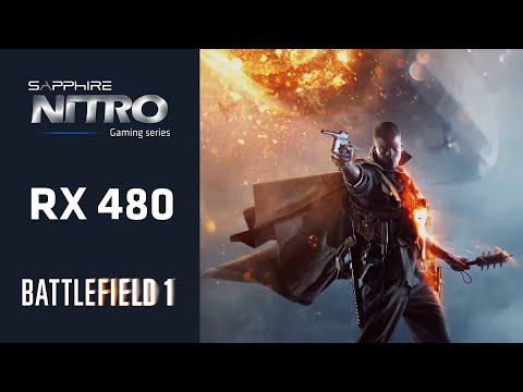 SAPPHIRE NITRO+ RX 480 Battlefield 1 Beta PC Gameplay DX12 : Amd