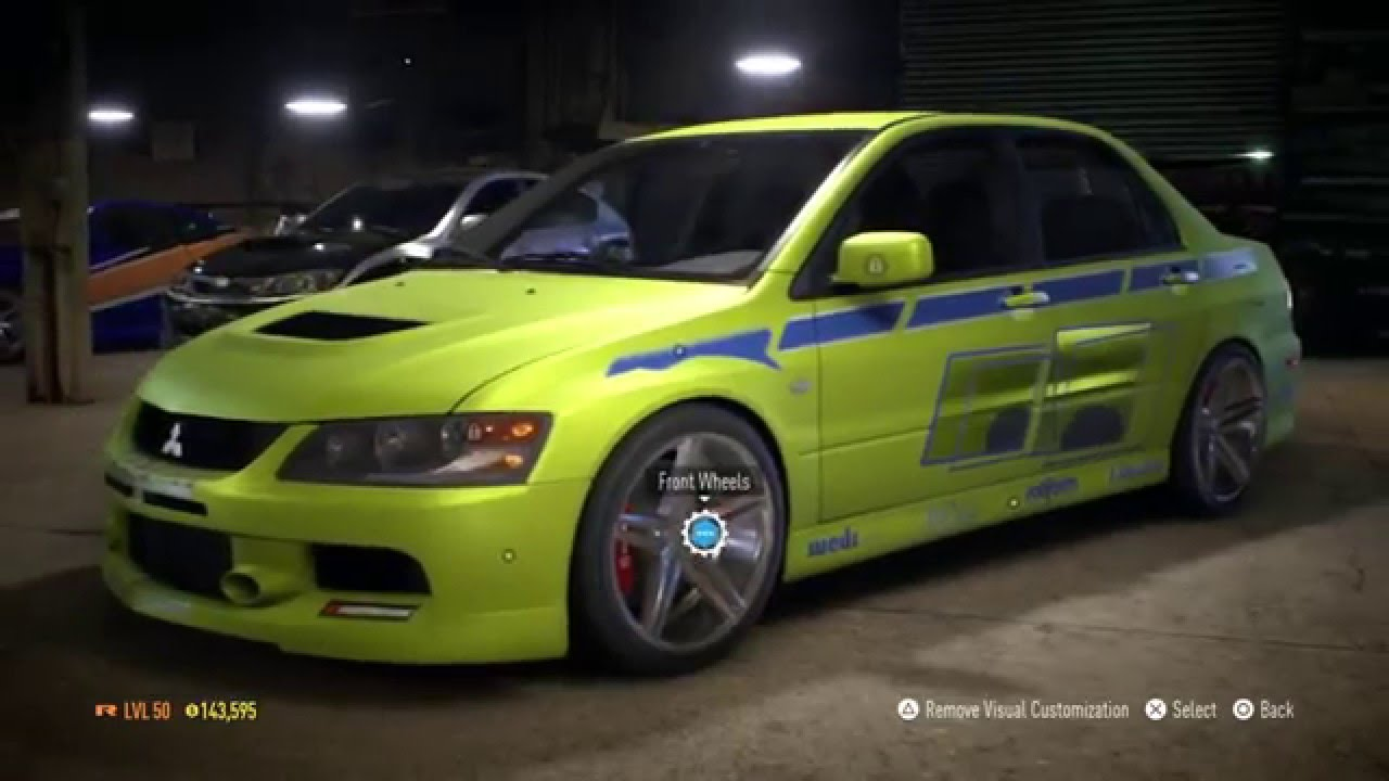 need for speed 2015 - 2 fast 2 furious - mitsubishi lancer