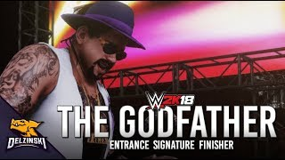 WWE 2K18 The Godfather Entrance, Signature, Finisher & Winning Sequence (Attitude Era RAW Arena)
