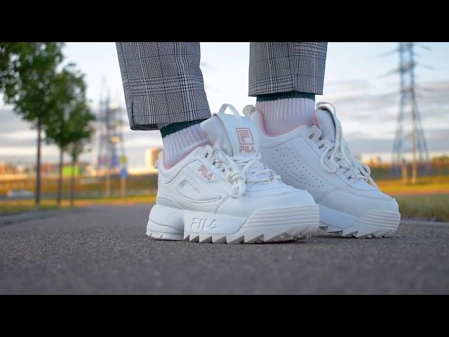 Видеообзор кроссовки Fila Disruptor 2 White Pink от магазина Filadiscount.ru