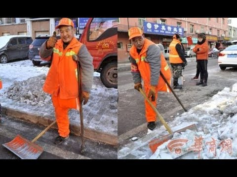 Deaf and one legged sweeper works 4am shifts for 12 years