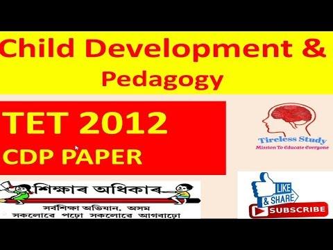 Assam TET 2012 , Child Development and Pedagogy Questions with Solution| Assam TET 2019