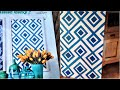 DIY ROOM DECOR: Diamond pattern canvas painting inspired by HGTV magazine cover