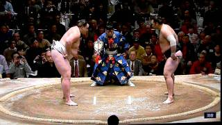 2012 Jan SUMO - Baruto v Kotooshu - Day 14