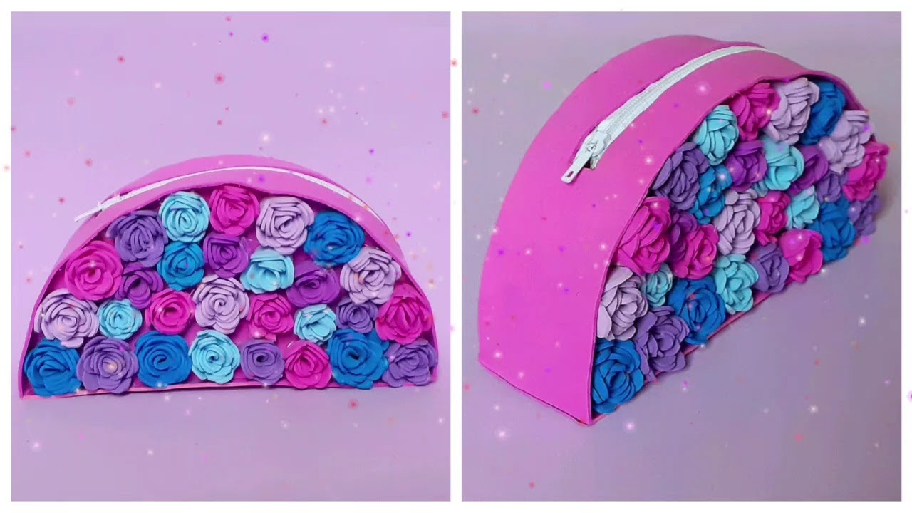 DIY Floral Pencil Case | Foam Sheet Crafts