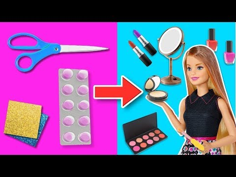 💄MINIATURE MAKE-UP and ACCESSORIES for BARBIE Dolls 💅Crafts & Decor