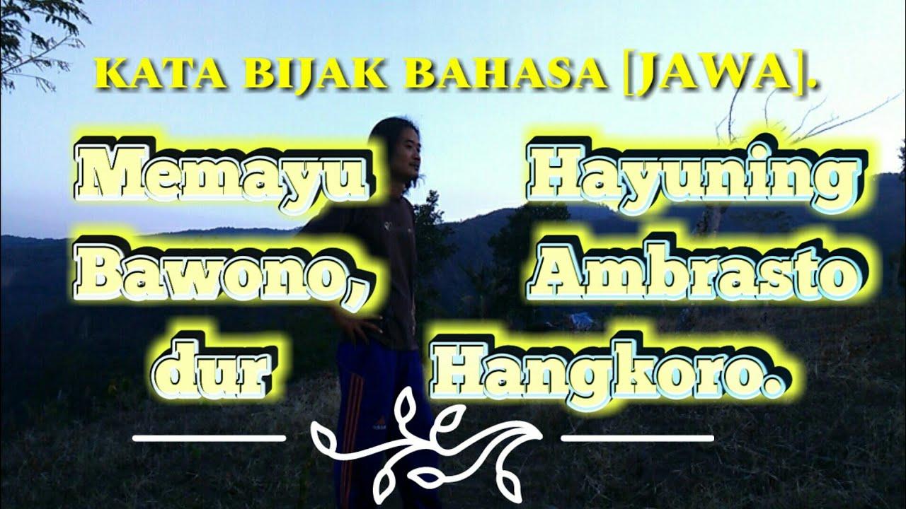 Kata Bijak Bahasa Jawa Artinya Cocok Buat Status Fb Kalian
