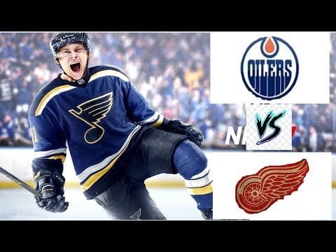 NHL 17 GAMEPLAY Detroit Redwings vs Edmonton Oilers