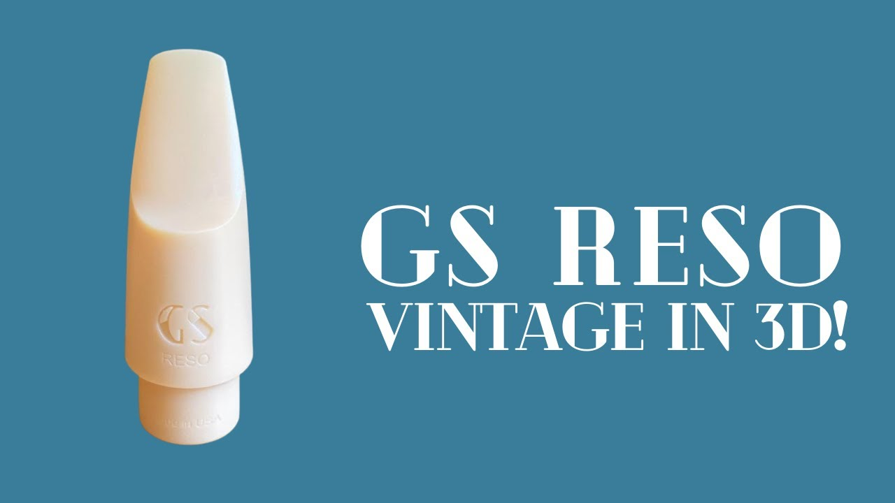 The GS Reso | Vintage sax mouthpiece in 3D!