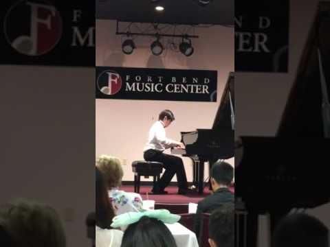 Sebastian at Houston Piano Competition