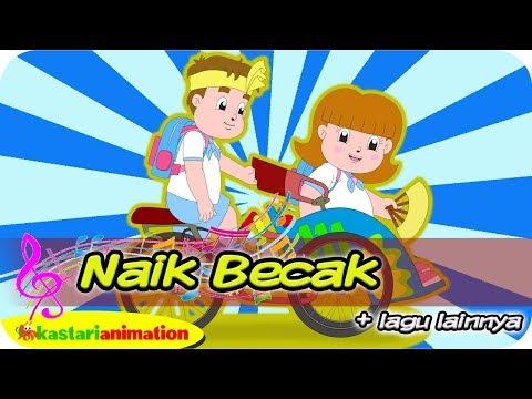 NAIK BECAK dan Lagu Anak Indonesia bersama Diva | Kastari Animation Official