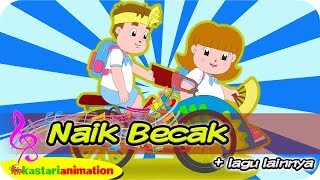 Video NAIK BECAK dan Lagu Anak Indonesia bersama Diva | Kastari Animation Official download MP3, 3GP, MP4, WEBM, AVI, FLV Januari 2018