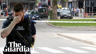 Liège shooting: gunman kills two police officers and passerby in Belgium