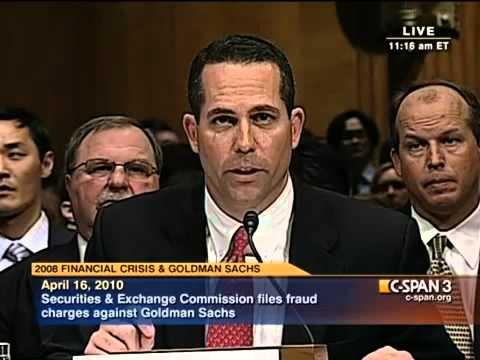"Sen. Carl Levin grills Goldman Sachs Department Head Dan Sparks. ""How Goldman got Comfortable?"""