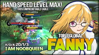 Next Level Cable Speed! 20 Kill Fanny by I AM NOOBQUEEN Top 1 Global Fanny - Mobile Legends