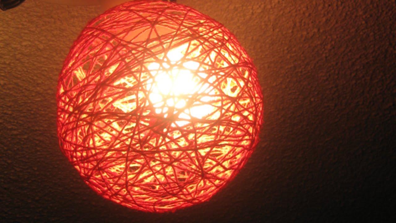 Lampadario Filo Di Ferro Fai Da Te : Crea delle belle sfere decorative di filo fai da te casa