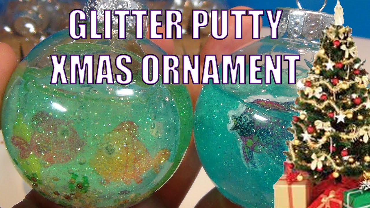 GLITTER PUTTY Slime Christmas Tree Fish Tank Ornament ...