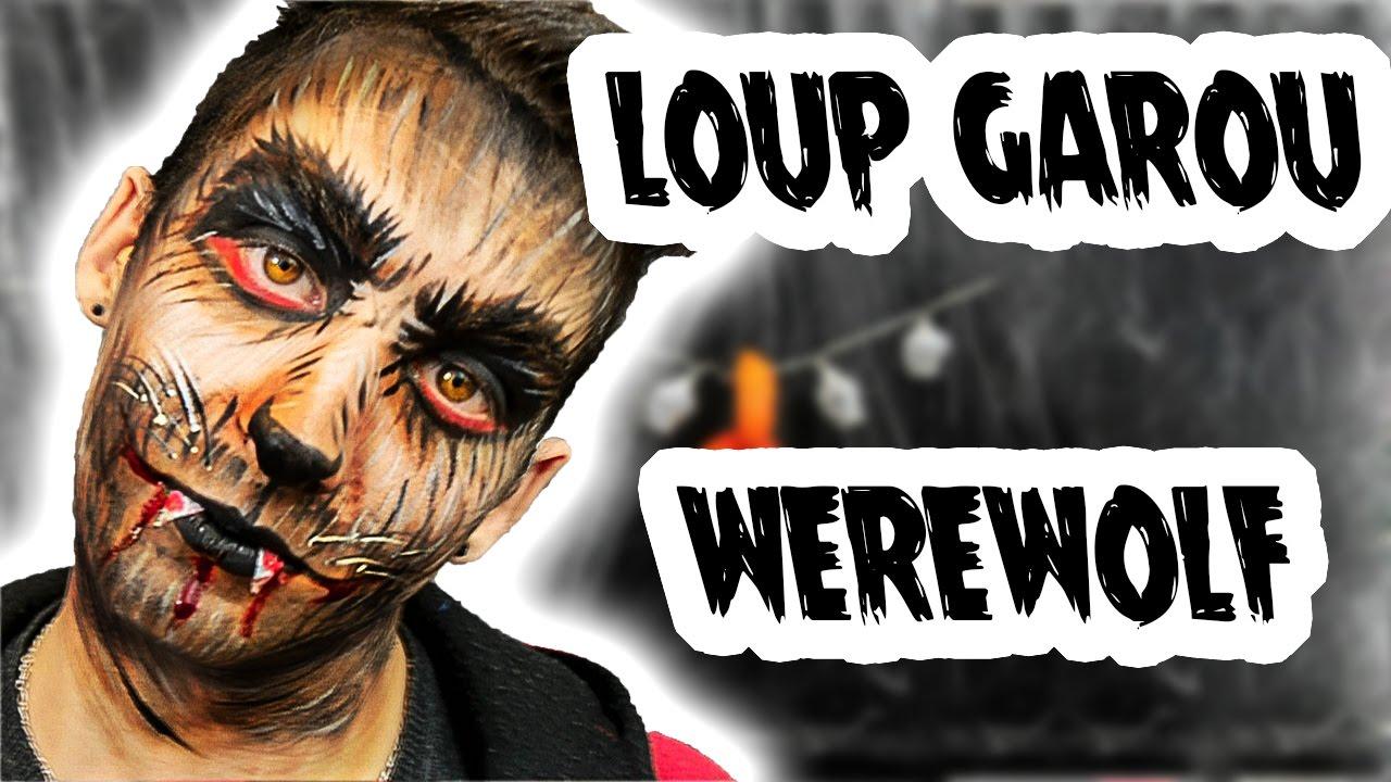 Loup Garou Werewolf Maquillage Halloween Makeup Youtube