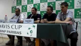 Davis Cup 2012 - Israel vs Portugal - Press conference with Andy Ram & Jonathan Erlich