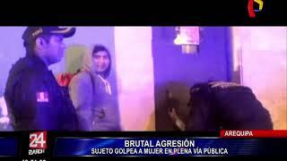 Arequipa: difunden cobarde agresión a mujer en plena calle