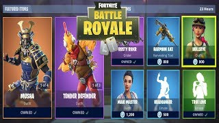 FORTNITE ITEM SHOP HEUTE 10 JANUAR | HAUT ZARTE VERTEIDIGER, MUSHA | FORTNITE DAILY SHOP