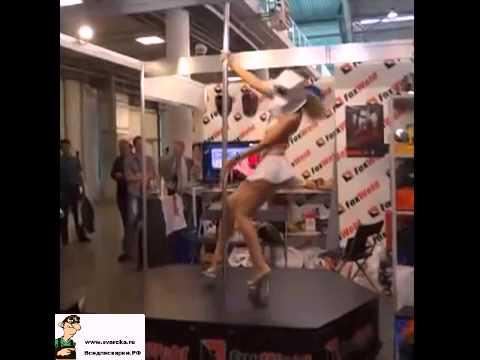 Танец девушки в маске Foxweld