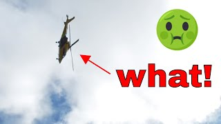 Agusta Westland AW109 Air Ambulance Quick decent responding to an incident