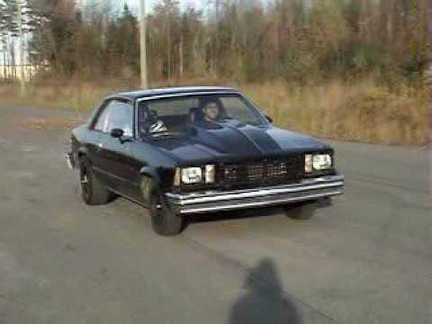 79 Chevy Malibu burnout and driveby - YouTube