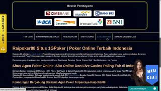 Daftar Poker88 Pokerclub88 dewapoker online Pokercc Rajapoker Pokerace99 Raipoker88