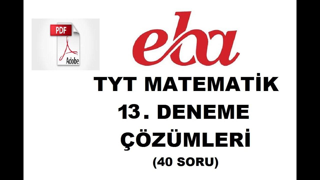 EBA TYT DENEME 13