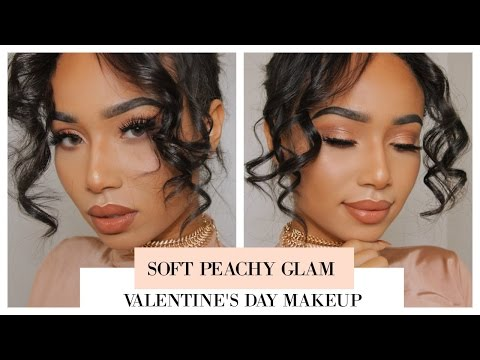 Soft Peachy Glam | Valentine's Day Makeup