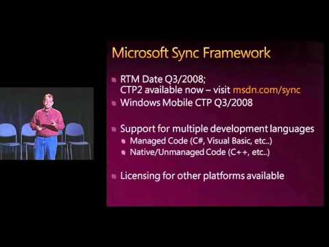 MIX08 Using the Microsoft Sync Framework and FeedSync