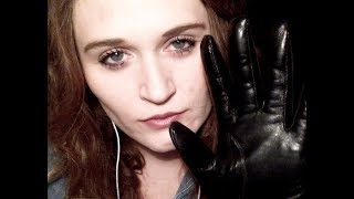 Leather gloves! Leather sounds #ASMR