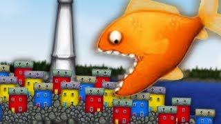 Приключение маленькой ГОЛОДНОЙ РЫБЫ Съешь все подряд 1 Веселая игра СЪЕСТЬ ОКЕАН мультик для детей