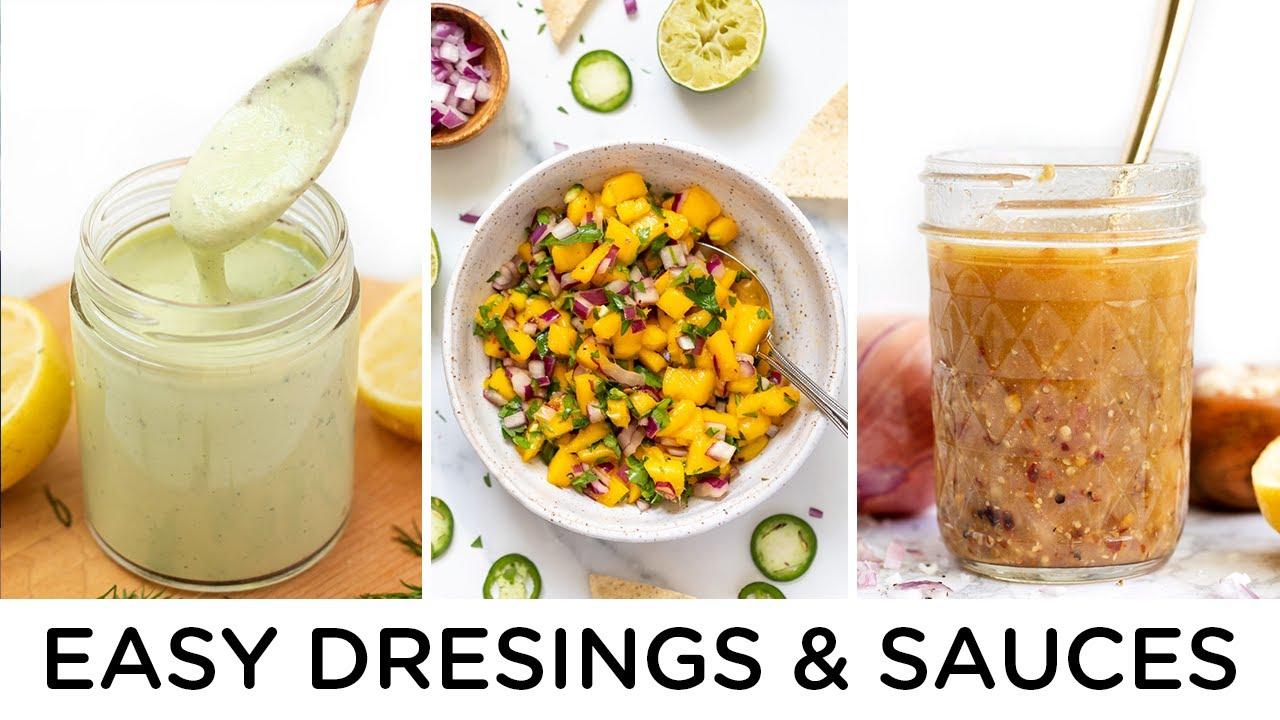 3 *EASY* CONDIMENTS ‣‣ dressing, sauce & salsa
