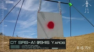 Desert Tech SRS-A1 .260 REM @945yds with Factory Ammo!