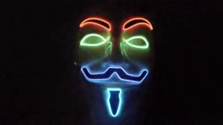 Anonymous LED mask - Colorfull