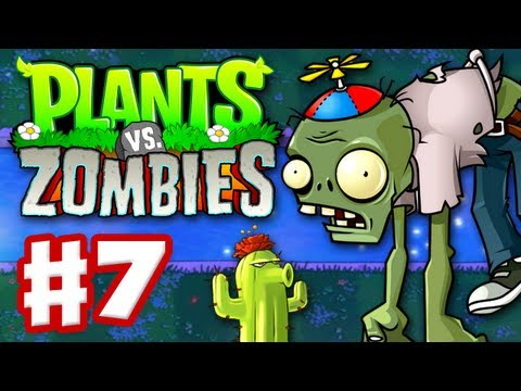 Plants vs. Zombies - Gameplay Walkthrough Part 7 - World 4 (HD)