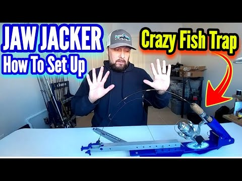 Jaw Jacker Fish Trap How To Set Up Automatic Fisherman For Ice Fishing! Hook Setter - Black Fly #016