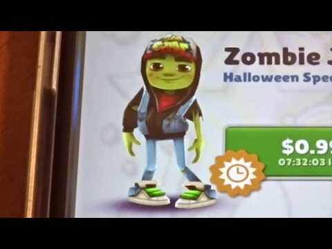 Unlocking Zombie Jake On Subway Surfers!