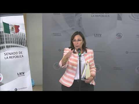 Conferencia de prensa de la Sen. Rocío Nahle, del Grupo Parlamentario de Morena