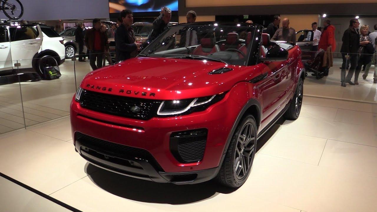 Land Rover Range Evoque Convertible 2016 2017 In Depth Review Interior Exterior