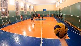 Волейбол от первого лица. Волейбольная тренировка. Любительская игра. GoPro 7. Седьмая эпизод.
