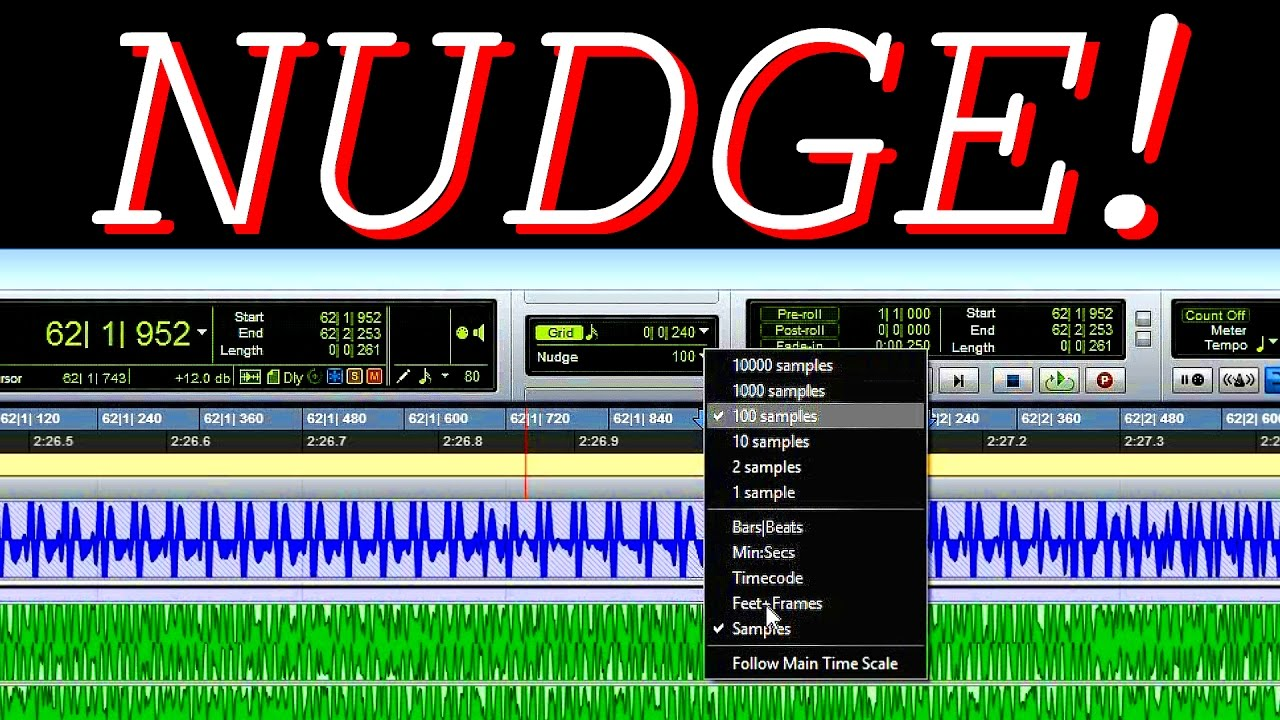 Nudge, a wonder of the digital audio editing!