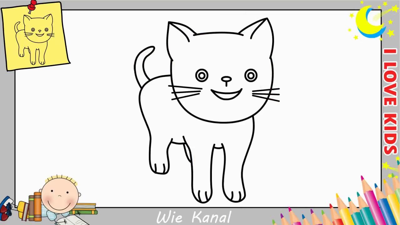 Katze Zeichnen Lernen Einfach Schritt Fur Schritt Fur Anfanger
